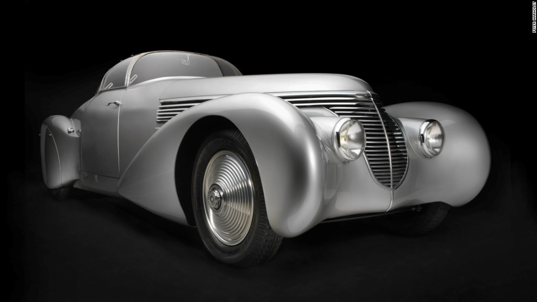 All the automobiles featured were created during the Art Deco period.