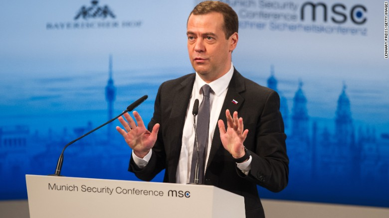 Medvedev: Calls relations with West a 'new Cold War'