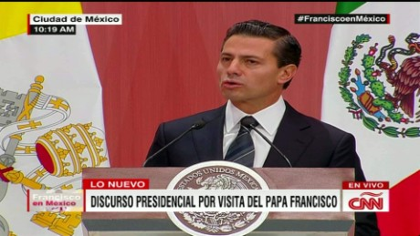 cnnee pena nieto speech with pope national palace_00051510