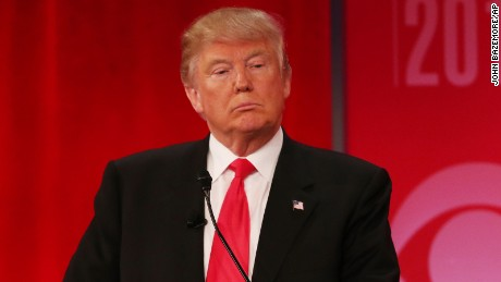 Republican presidential candidate, businessman Donald Trump listens during the CBS News Republican presidential debate at the Peace Center, Saturday, Feb. 13, 2016, in Greenville, S.C. (AP Photo/John Bazemore)
