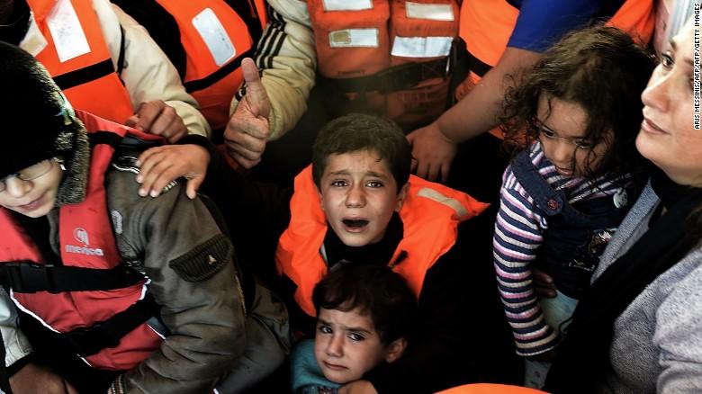 Children caught up in Syria's migrant crisis