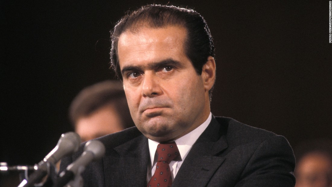 Scalia, seen in a 1986 photo, was the first justice of Italian-American heritage and passed through confirmation with a unanimous vote.