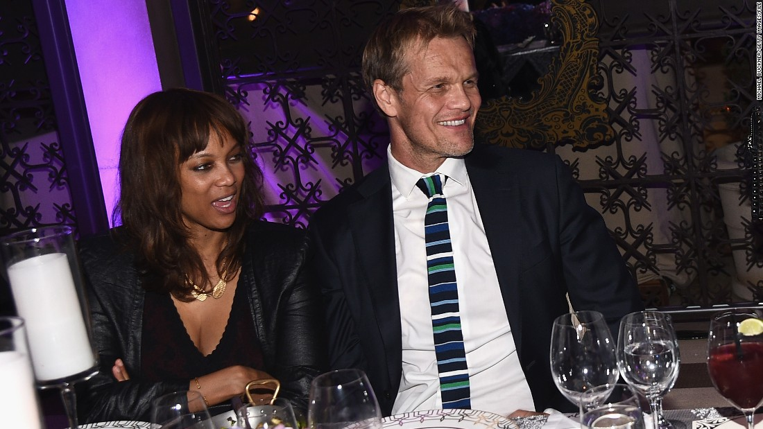 """Tyra Banks and her Norwegian photographer boyfriend, Erik Asla, <a href=""""http://www.cnn.com/2016/01/27/entertainment/tyra-banks-baby-boy/index.html"""">welcomed their son,</a> York Banks Asla, on January 27. The couple had the baby via surrogate."""