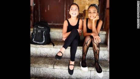CUBA: Waiting for ballet class in Centro Habana. Photo by CNN's Patrick Oppmann @cubareporter, February 13.