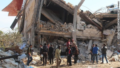 Two hospitals, school struck in Syria