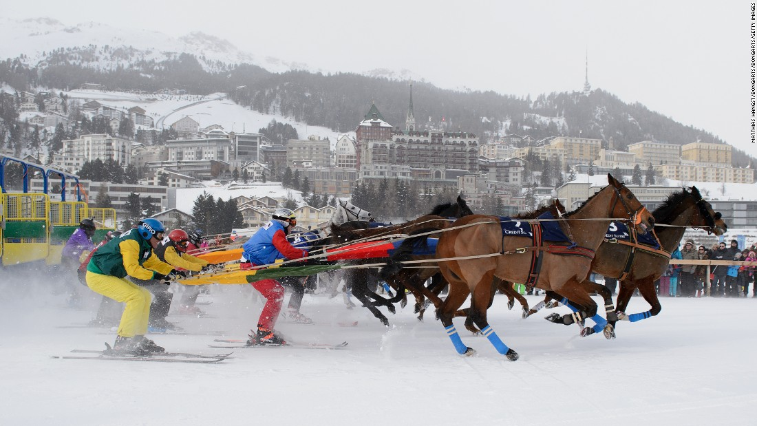 "The skijoring races at White Turf -- a clear crowd favorite -- are traditionally combined over the three Sundays, with participants competing for one prize at the end of it all. The skier with the highest number of points after the final event is crowned ""King of the Engadine."""
