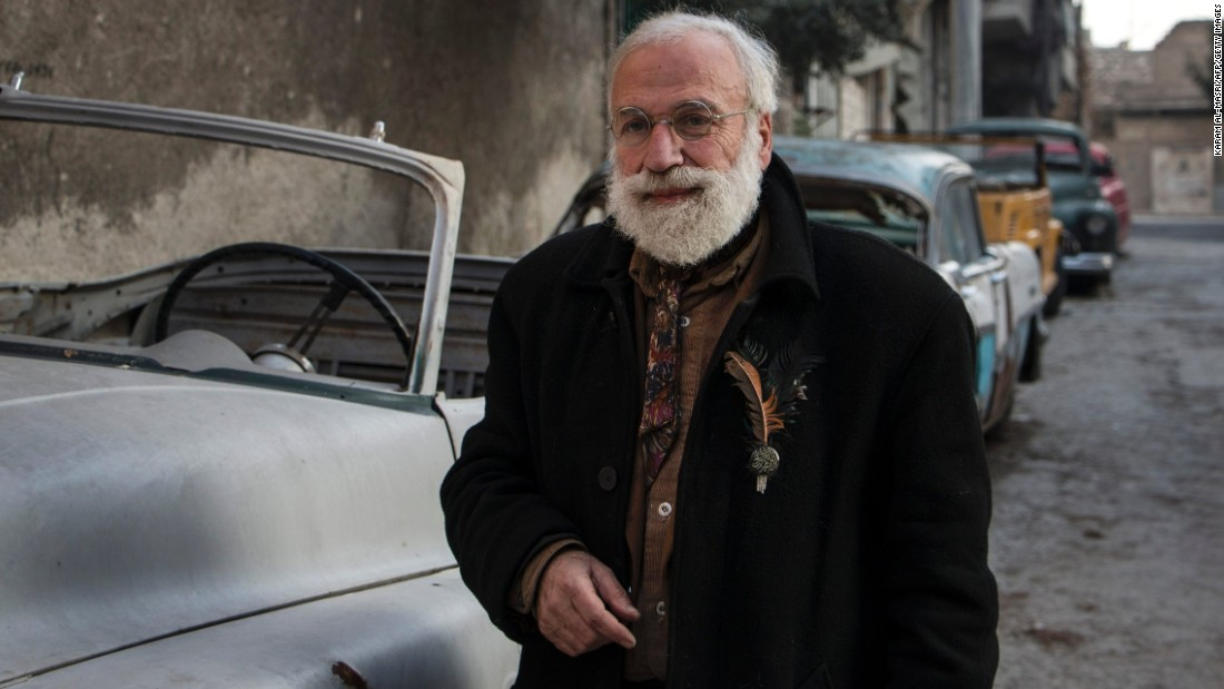 Abu Omar is a classic car collector in Aleppo.