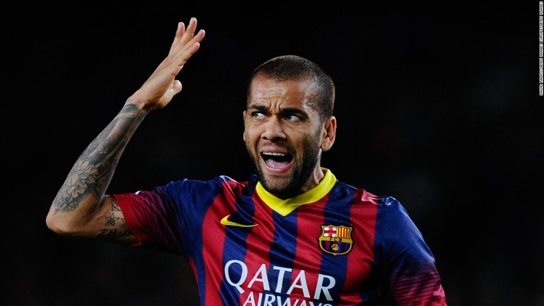 Dani Alves takes the right back spot after coming in unopposed. The Brazilian is a joy to watch with his endless energy allowing him to raid down the right-hand side. He's also known for his rather colorful fashion sense -- if Barcelona win the competition again, don't bet against another wild outfit.