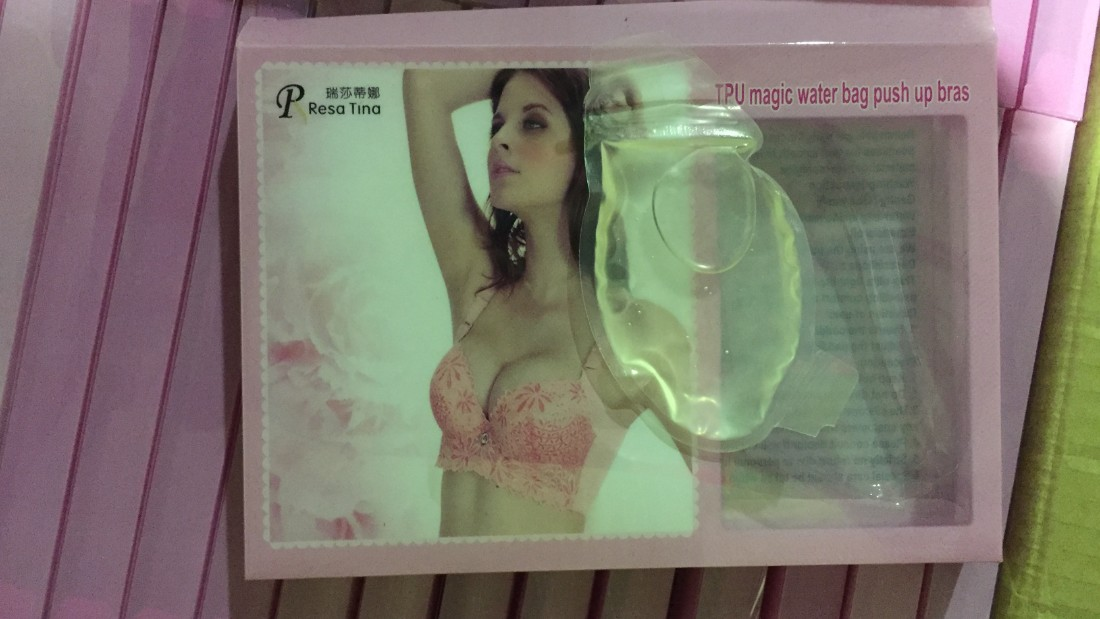 Australian customs discovered around 190 liters of liquid methylamphetamine hidden inside a shipment of gel bra implants from Hong Kong. A further 530 liters were found in art supplies stashed in Sydney.