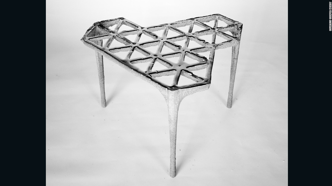 This stool by Max Lamb was made using a form of sand casting.