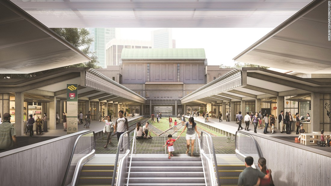 The railway rehabilitation plan also includes concept designs to build a metro station under the former Tanjong Pagar Railway Station. The old station building -- including the former platform -- will be turned into a community building.