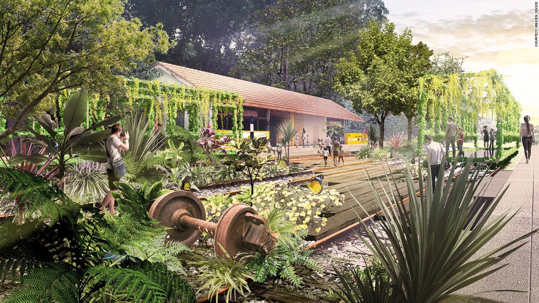 Former stations and other railway artifacts will be restored and celebrated in the new park. The former Bukit Timah Railway Station will be themed The Station Garden.