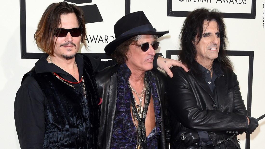 The rock supergroup Hollywood Vampires: From left, Johnny Depp, Joe Perry and Alice Cooper