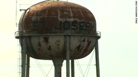 On some days, the tap water in St. Joseph is the same rusty color as the water tower.