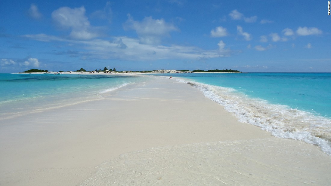 Venezuela's Los Roques National Park is home to Cayo de Agua, the No. 5 beach on TripAdvisor's list of the world's best beaches.