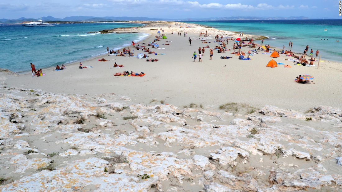 "Playa de Ses Illetes in Formentera, Spain, is a ""wonder of nature,"" according to one enthusiastic reviewer."