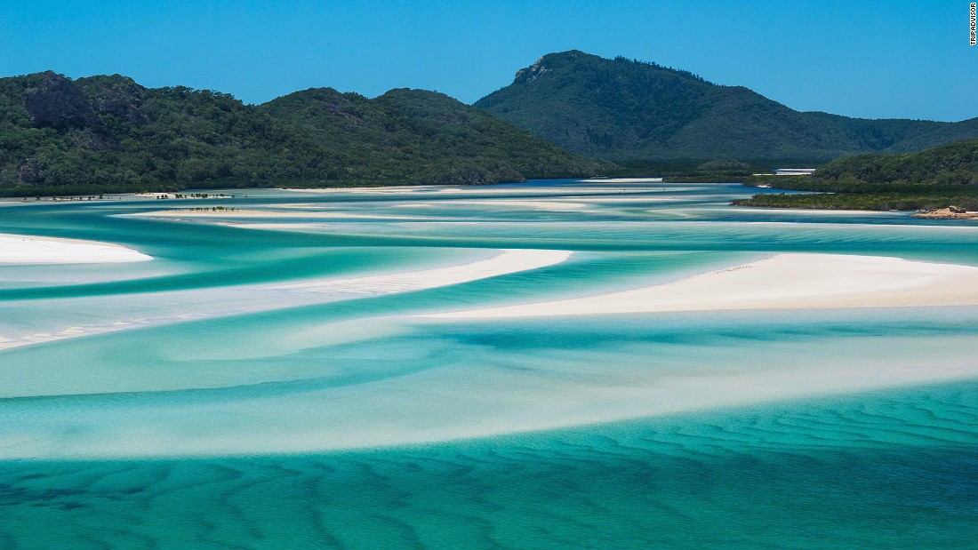 "No one visiting ninth-place Australia should miss the <a href=""http://whc.unesco.org/en/list/154"" target=""_blank"">Great Barrier Reef</a>, the world's largest collection of coral reefs. But it's worth the effort to get to Whitehaven Beach, with waters so stunning that Sports Illustrated shot part of its 2013 swimsuit issue there."