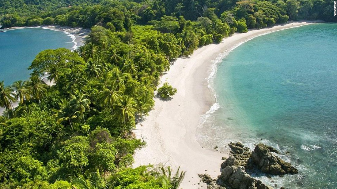 The beach in Costa Rica's Manuel Antonio National Park comes in at No. 15. The park's diverse wildlife is a big reason.