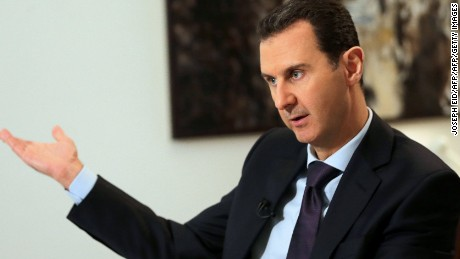 Syrian President Bashar al-Assad in Damascus on February 11, 2016.