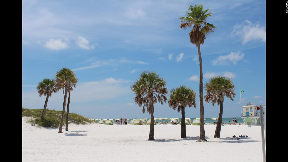 Florida's Clearwater Beach is No. 20 on TripAdvisor's global list of best beaches and No. 1 on the U.S. list.