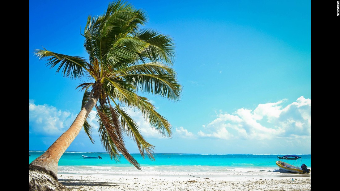 Playa Paraiso is located near the Mayan ruins of Tulum, Mexico.