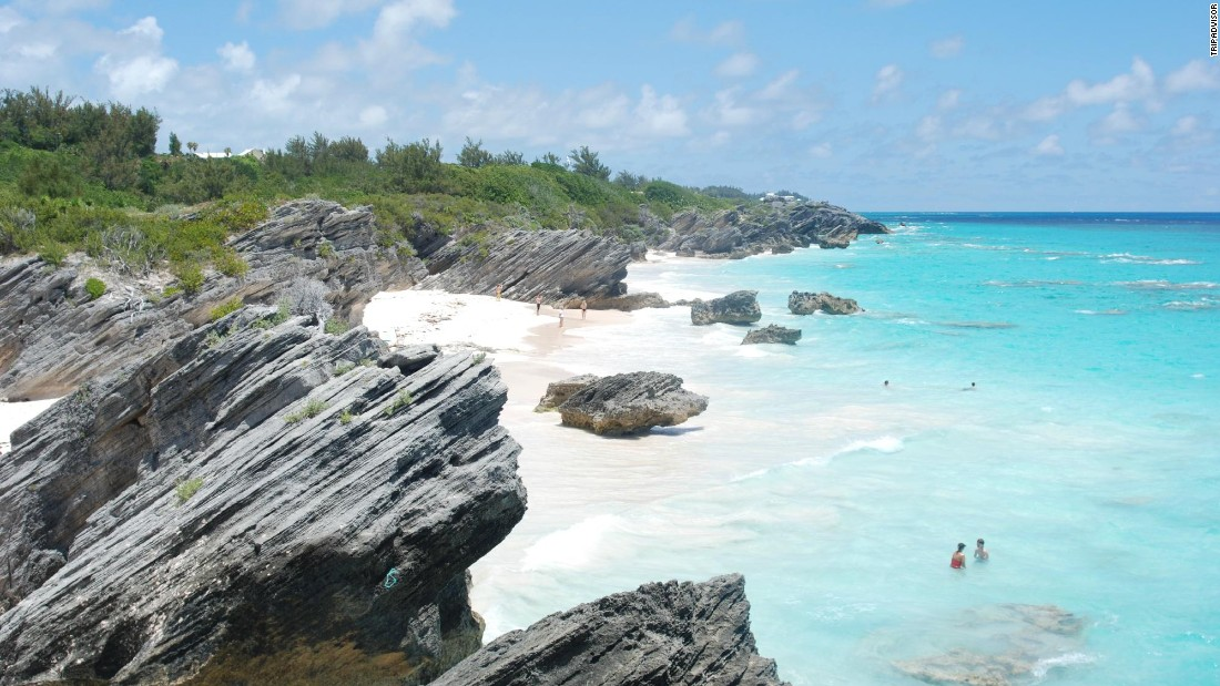 "Bermuda's Horseshoe Bay Beach in Southampton Parish has the ""cleanest, softest pink sand."""