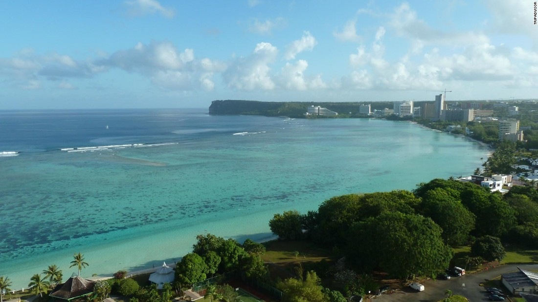 "No. 24 Tumon Beach in the Mariana Islands offers ""calm sheltered waters to swim and play."""