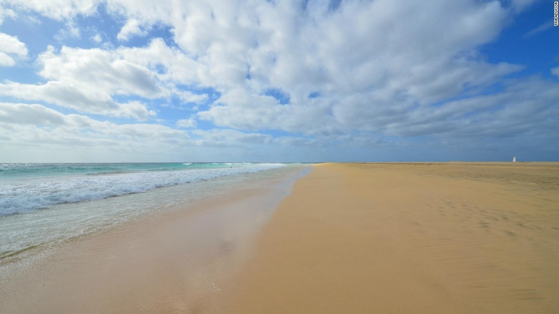 "Praia de Santa Maria in Cape Verde is a ""very picturesque beach with plenty of space and clean pale sand,"" one reviewer says."