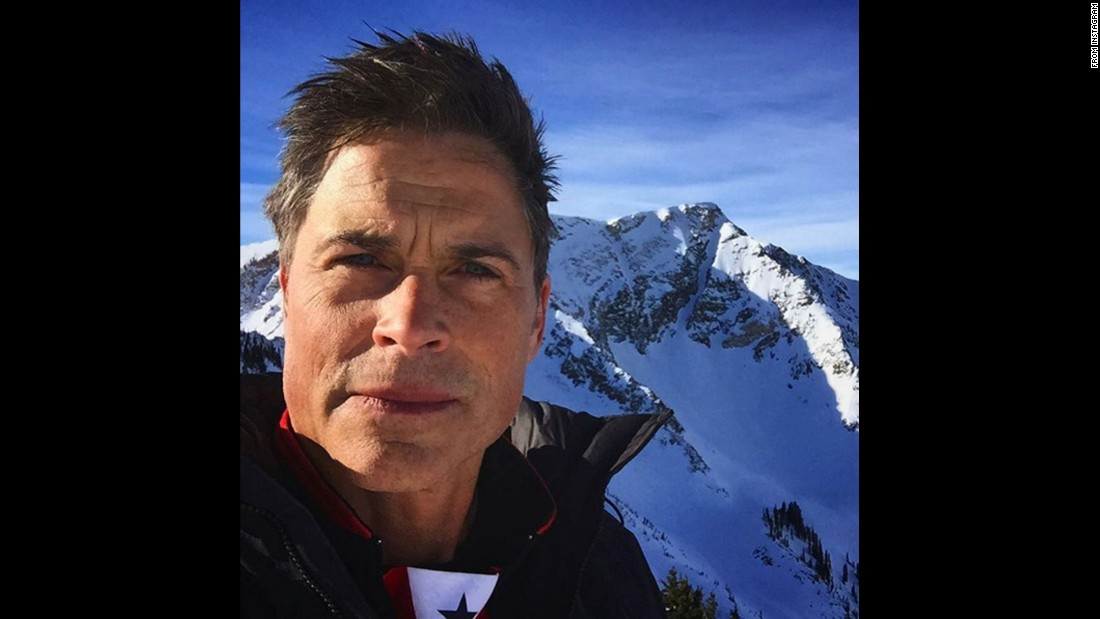 "Actor Rob Lowe takes a selfie at the Snowbird Mountain Resort in Utah on Wednesday, February 10. ""Back to the spot of many adventures,"" <a href=""https://www.instagram.com/p/BBnmw09kqo1/"" target=""_blank"">he said on Instagram.</a> ""Been hitting this mountain since 1976."""