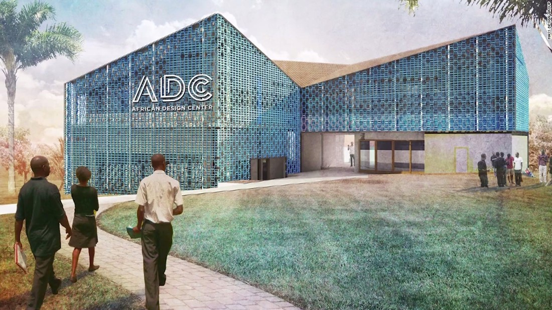 An early artist's rendering of the African Design Center from MASS Design Group, which will open its doors in Kigali, Rwanda, later this year.