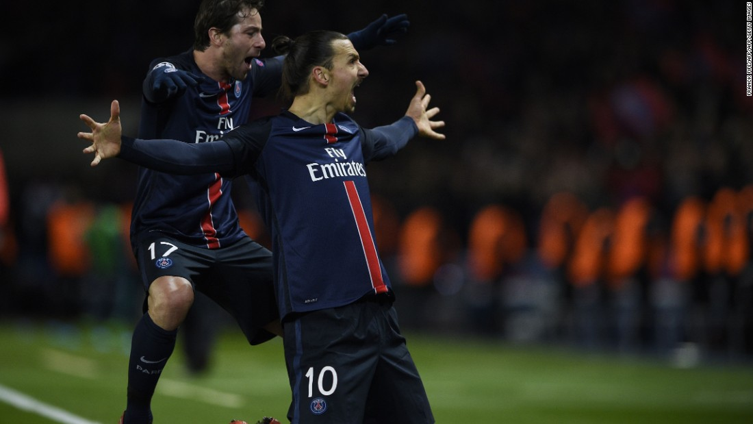 Those fans were soon jumping up and down in delight as Zlatan Ibrahimovic fired the home side ahead with a deflected free kick just six minutes before the interval.
