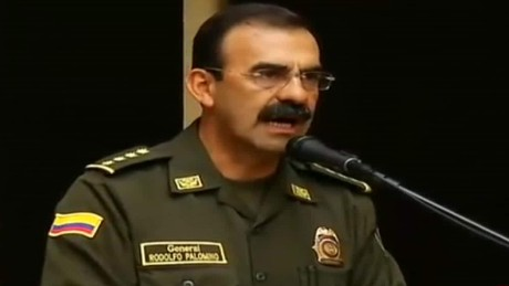 Gen. Rodolfo Palomino, the head of Colombia's national police, denies allegations of running a male prostitution ring.