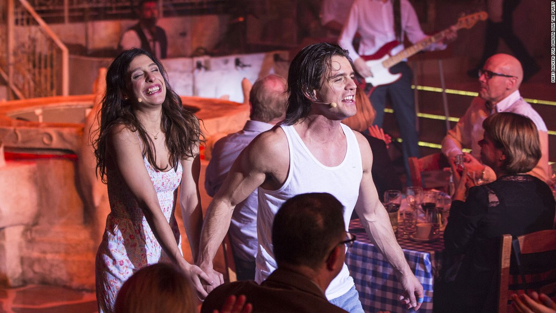 "While they chow on Mediterranean food, the audience watches a show loosely based on the successful ""Mamma Mia!"" musical and movie that intertwined a love story with the songs of ABBA."