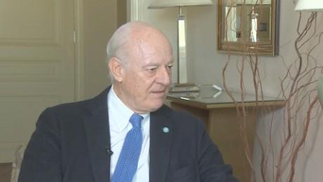 syria pleitgen de Mistura UN interview_00004529