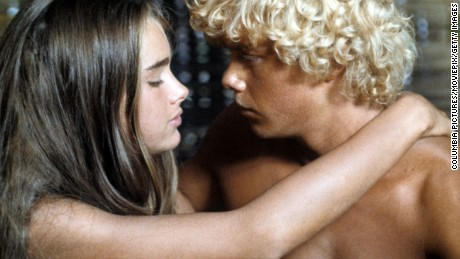 "Brooke Shields and Christopher Atkins in a scene from the 1980 film, ""Blue Lagoon."""