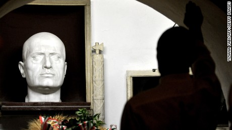 Predappio, Mussolini's birthplace, also hosts the executed dictator's tomb.