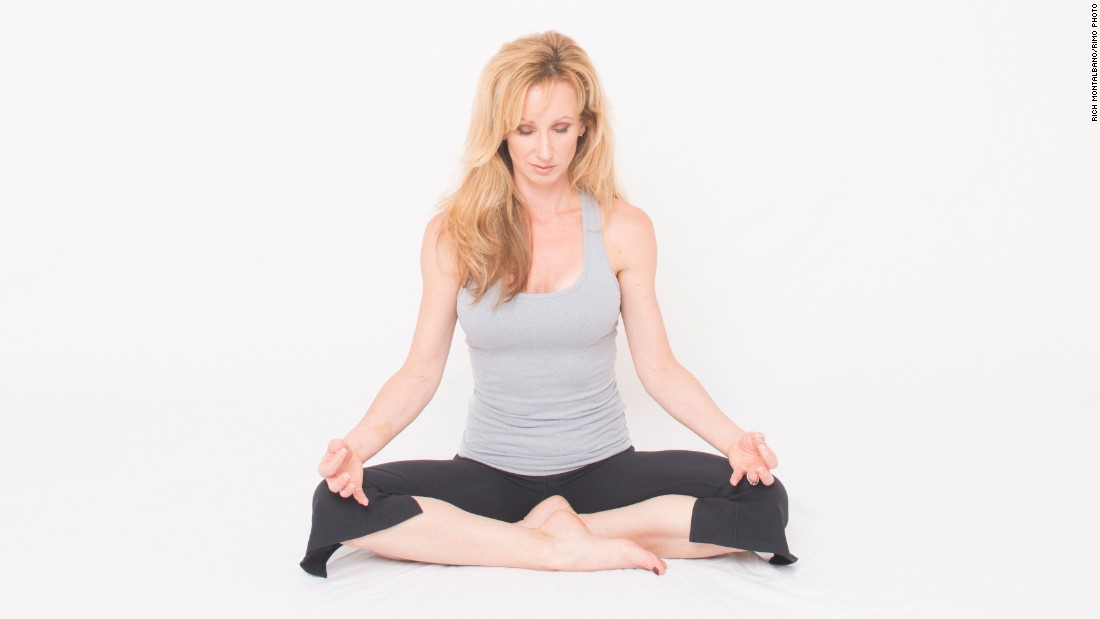 """Dana Santas, creator of <a href=""""http://www.radiusyoga.com/"""" target=""""_blank"""">Radius Yoga Conditioning</a>, demonstrates a yoga practice to cultivate a mind-body connection. <br /><br />Sit comfortably on the floor or in a chair with your hands resting on your legs. Slightly bow your head and close your eyes. Taking conscious control of your respiration, begin lengthening and deepening your inhalations and exhalations."""