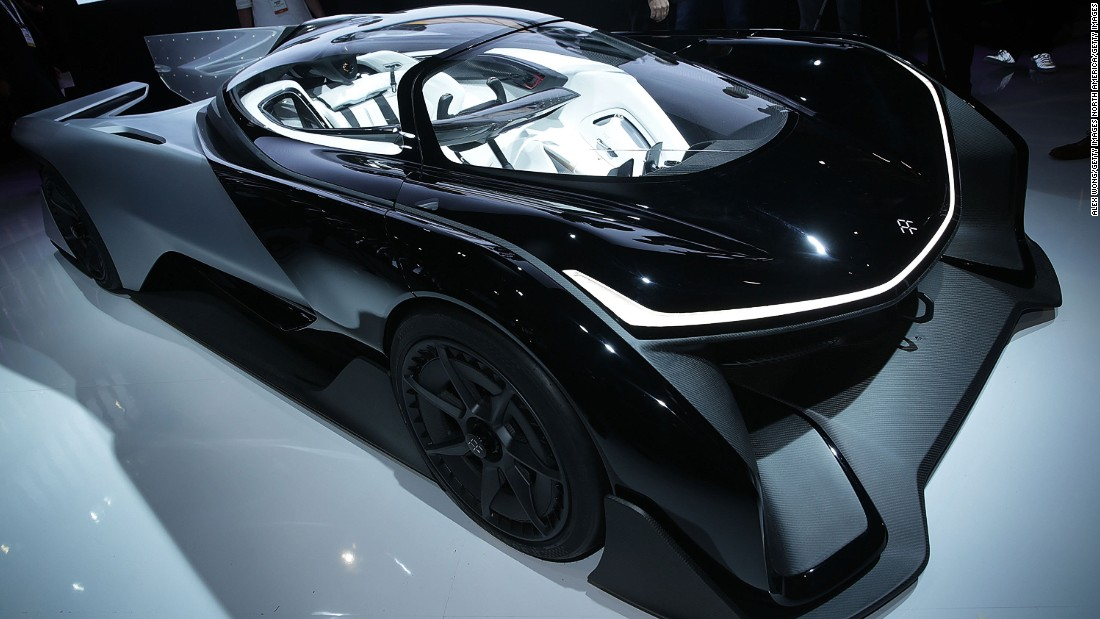 Faraday Future drew crowds of admirers at the CES in 2016 with the futuristic FFZERO1 concept car.