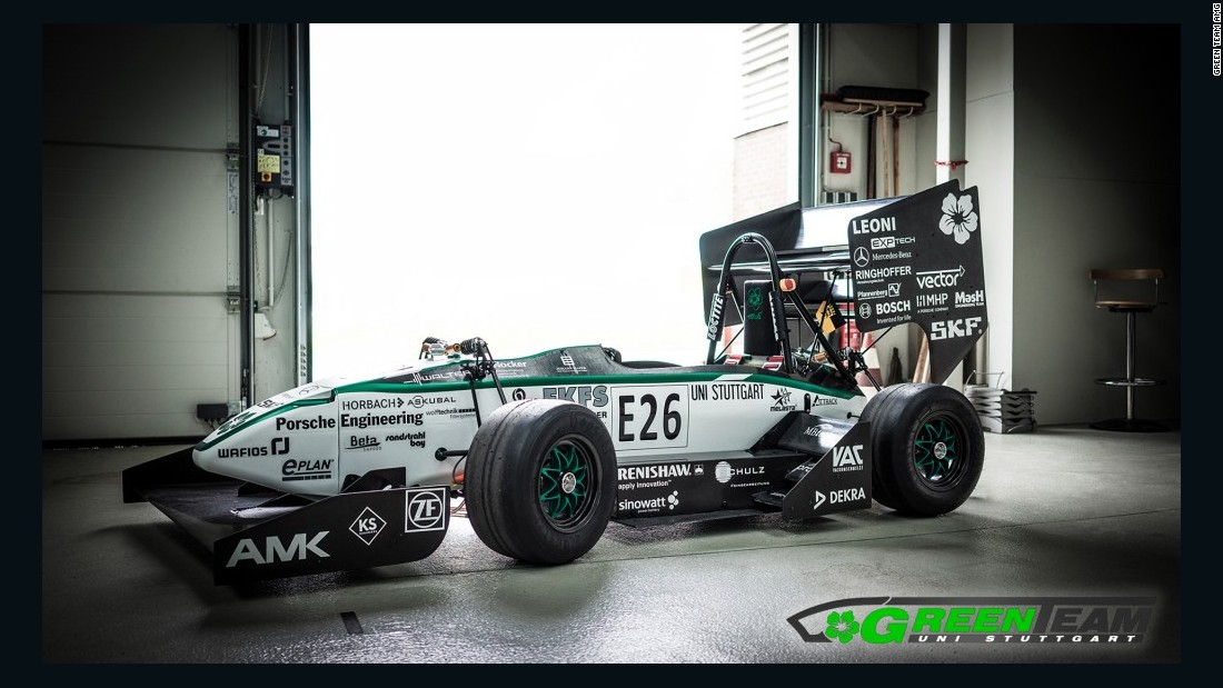 The Green Team E0711-5 electric car was made by students at the University of Stuttgart. It weighs just 165kg, meaning its power to weight ratio (kw/kg) rivals the vehicles used in Formula One.