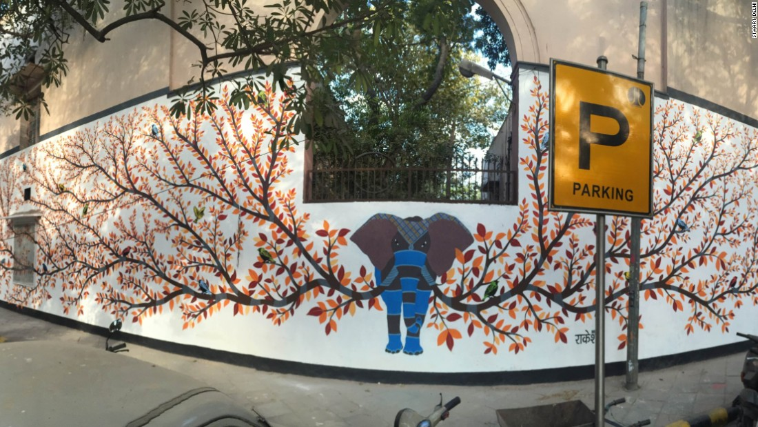 It served as an ode to Gond art, a traditional artform native to central India. <em>(Photograph by Akshat Nauriyal)</em><br />