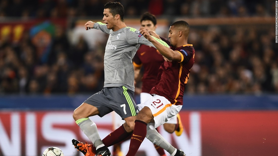 Real Madrid traveled to Italy to face Roma in the last 16 of the Champions League. Real, which has won the competition a record 10 times, was without the injured Gareth Bale.