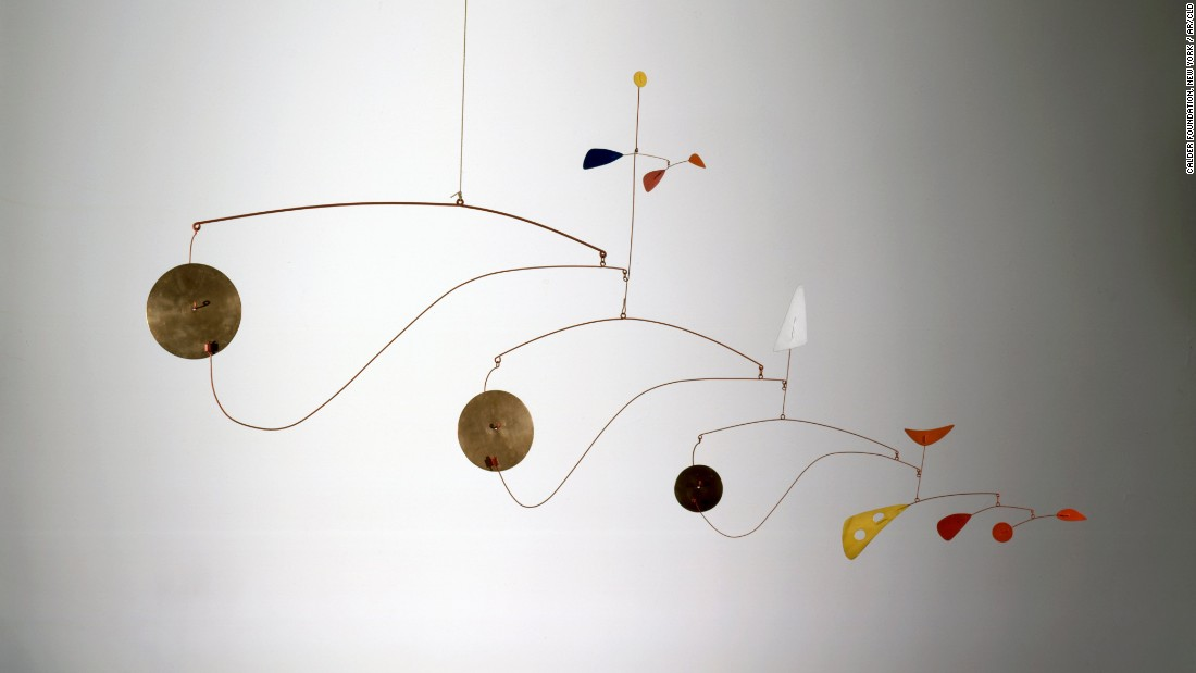 The exhibition is themed around how the idea of movement and performance related to Calder's work over the course of his career.