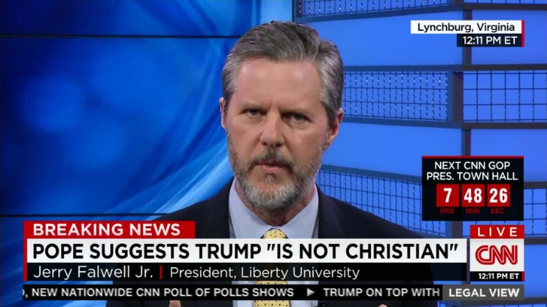 Jerry Falwell Jr.: 'I do believe Trump is a Christian'