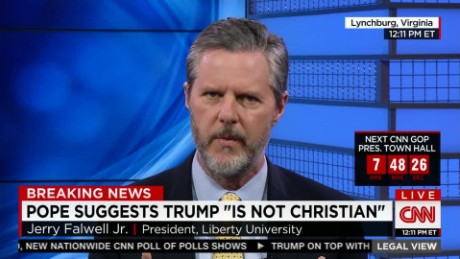 Falwell Jr.: Pope using Christianity as criteria for President _00020427.jpg
