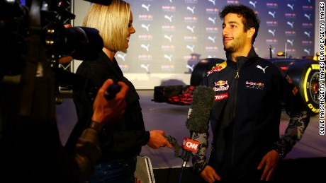Daniel Ricciardo tells CNN's Amanda Davies that he aims to win at least one race in 2016.