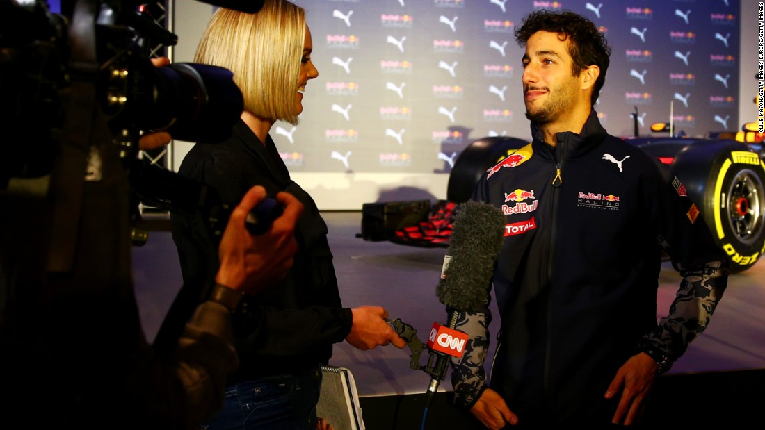 "Australian racer Daniel Ricciardo tells CNN the 2016 car has a ""stealth, aggressive look."" Ricciardo won three races with Red Bull in 2014 and after a fallow 2015 he says: ""If I can get one this year that will be a good step in the right direction."""