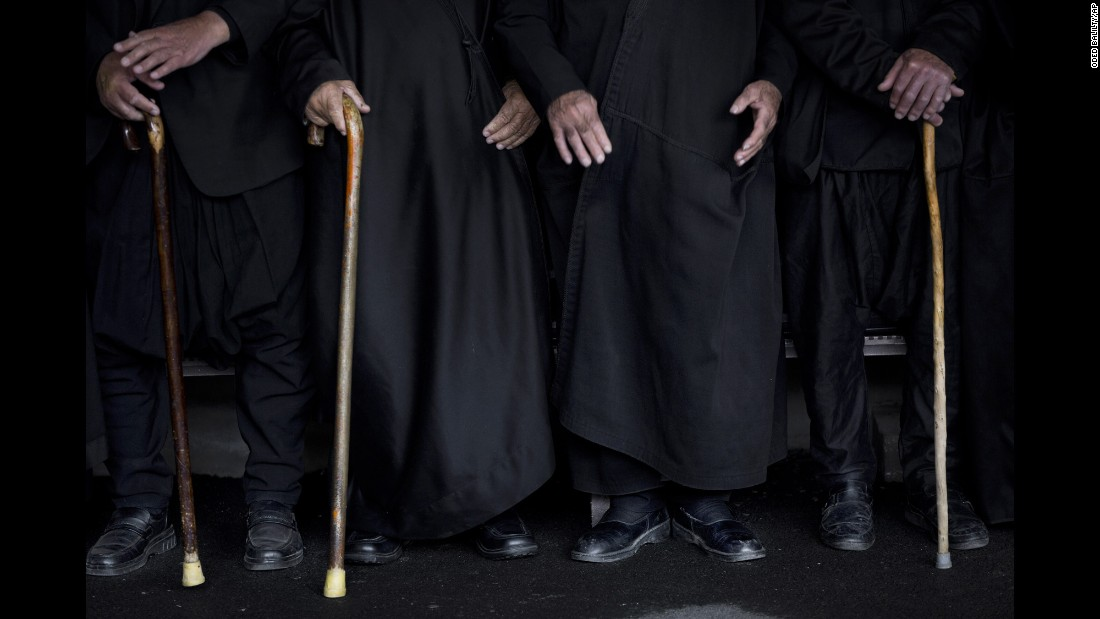 Members of the Druze community demand the return of the Golan Heights during a rally close to the Syrian border on Sunday, February 14. The annual demonstration protests the 1981 Israeli law in which the Jewish state annexed the Golan Heights.