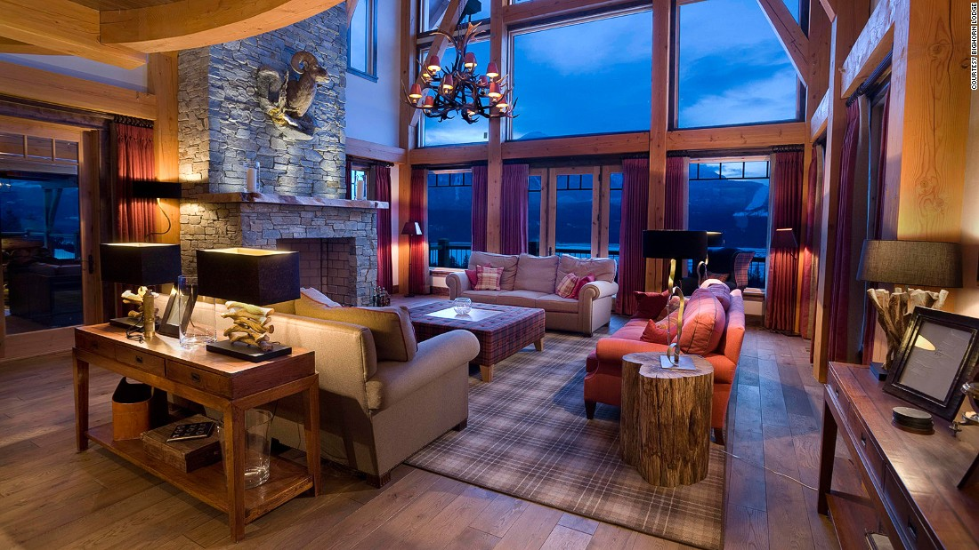 Bighorn Lodge is an ultra-luxe alpine-style chalet for 16 people. It overlooks the Columbia River at the foot of Revelstoke Mountain Resort and has its own helipad.