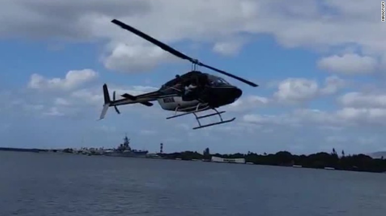 Helicopter crash near Pearl Harbor caught on camera
