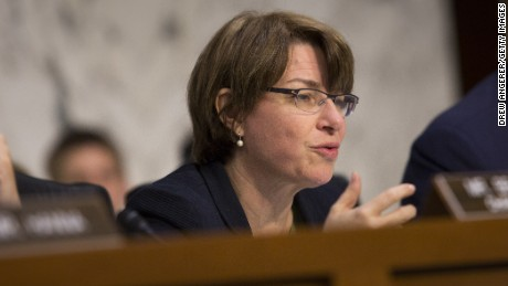 Minnesota Sen. Amy Klobuchar, whose daughter has allergies and requires an EpiPen